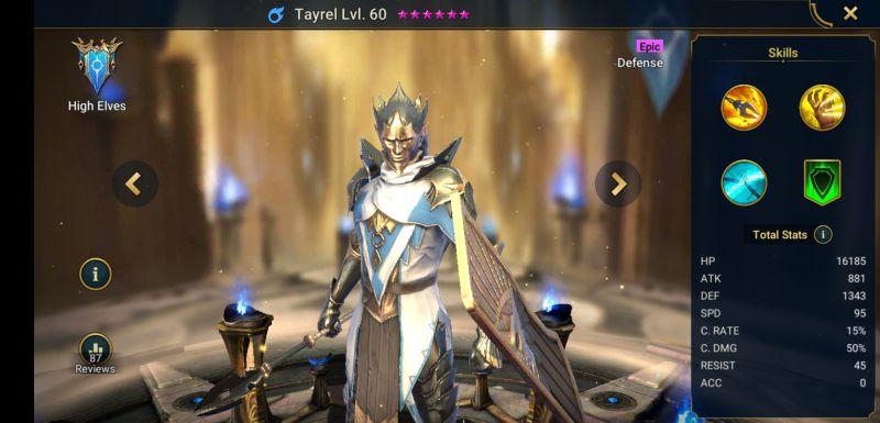raid shadow legends tayrel