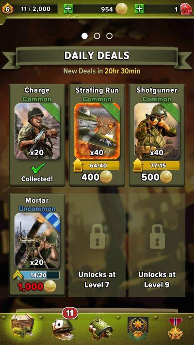siege world war 2 deck setup