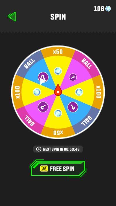 slope run spin wheel