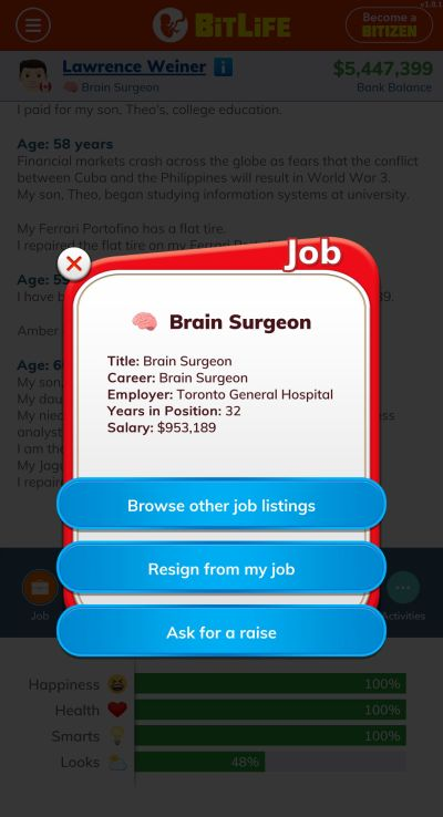 bitlife brain surgeon