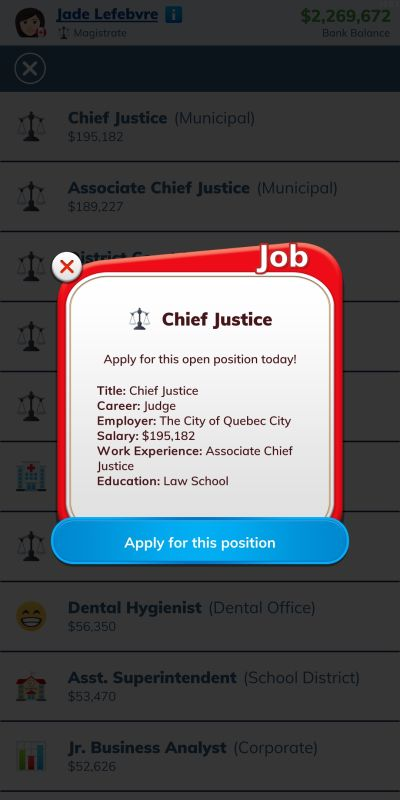 bitlife chief justice