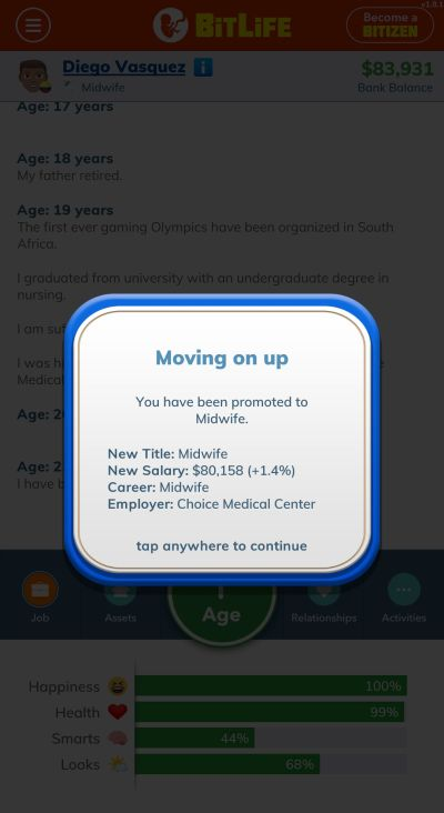 bitlife midwife