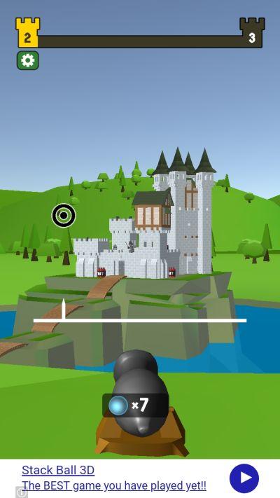 castle wreck horizontal axis