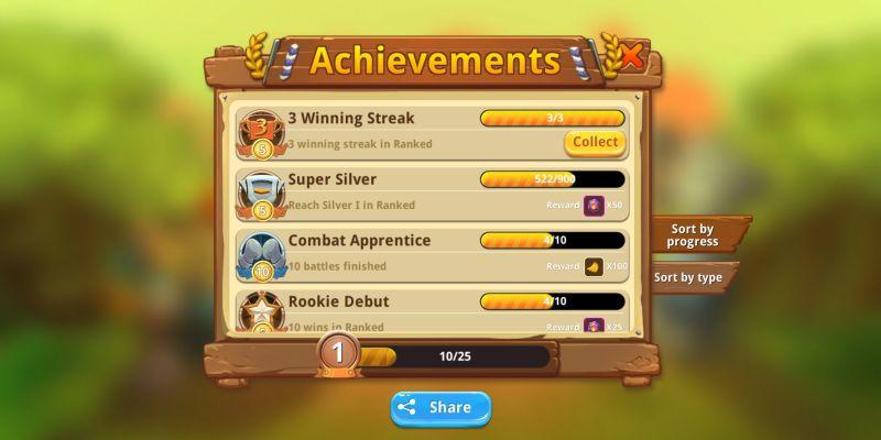 critter clash achievements