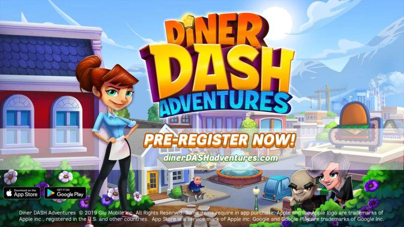 diner dash adventures pre-registration