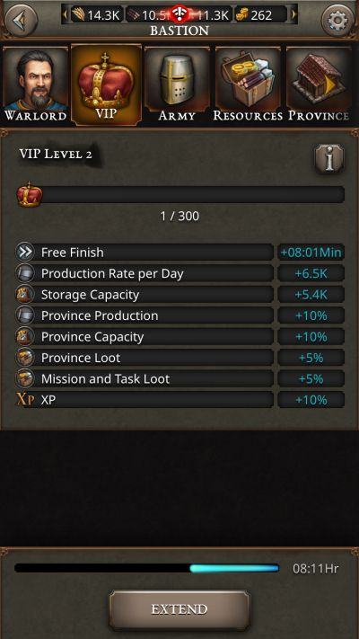 fortress kings boosts