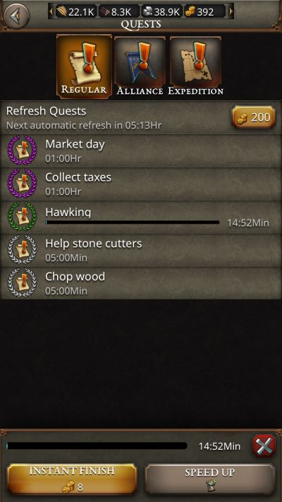 fortress kings quests