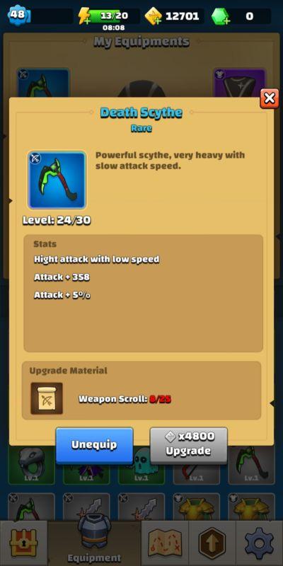 archero death scythe