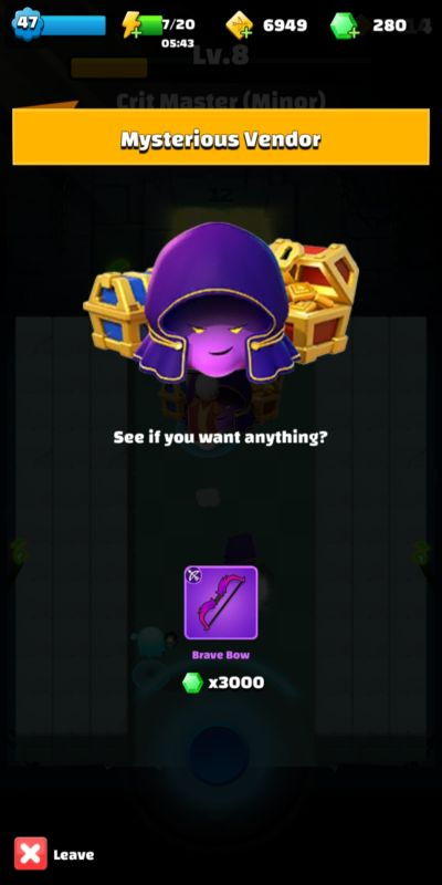 archero mysterious vendor