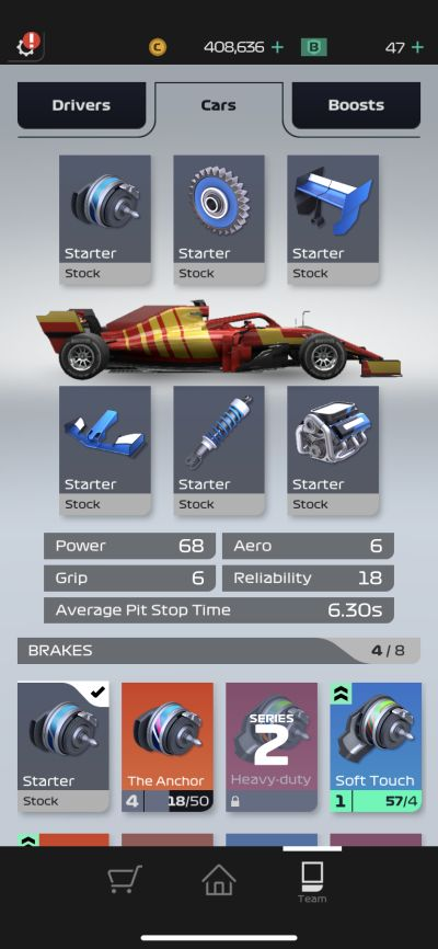 f1 manager car