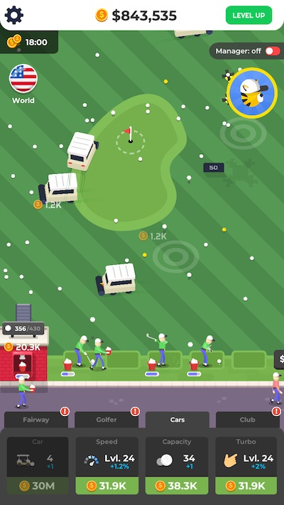 golf inc tycoon double income