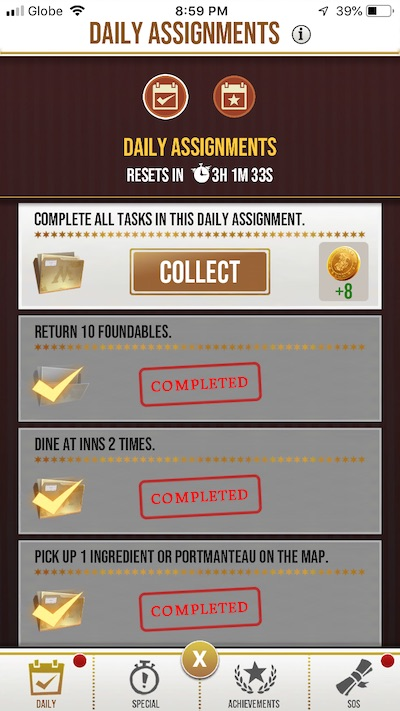 harry potter wizards unite assignments