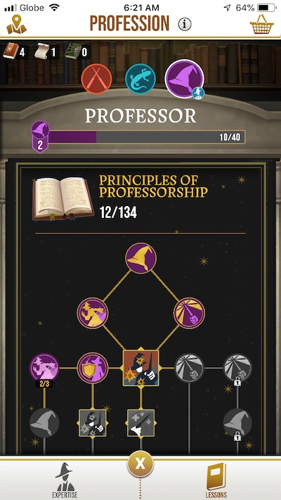 harry potter wizards unite profession