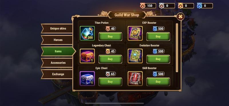 hero wars guild war shop