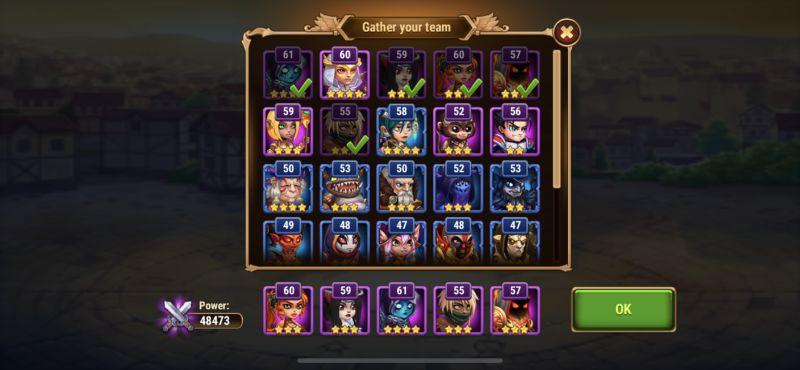hero wars team