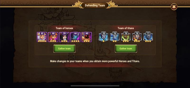 hero wars team of titans