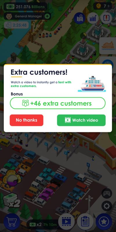 idle theme park tycoon extra customers