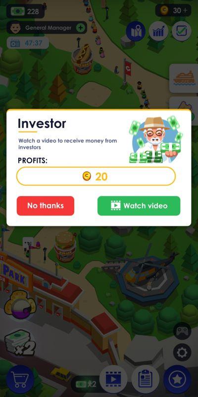 idle theme park tyoon investor