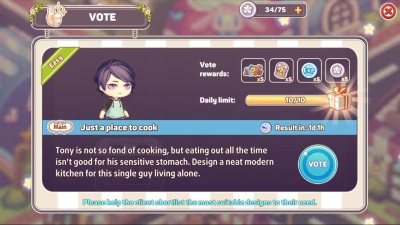 kawaii home design voting