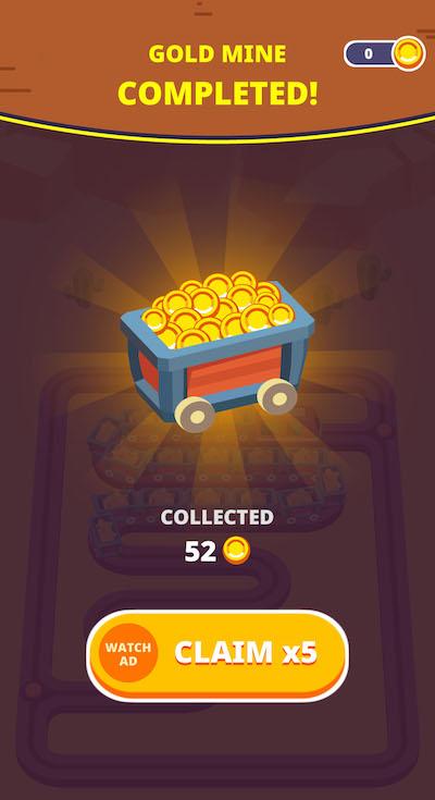 train taxi gold mine