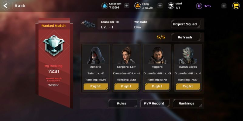 aeon wars galactic conquest ranked match