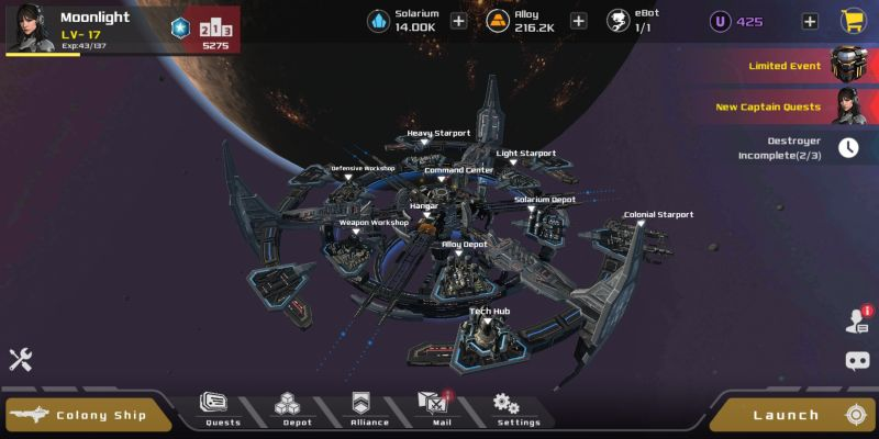 aeon wars galactic conquest space station