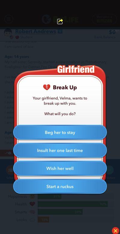 bitlife break up