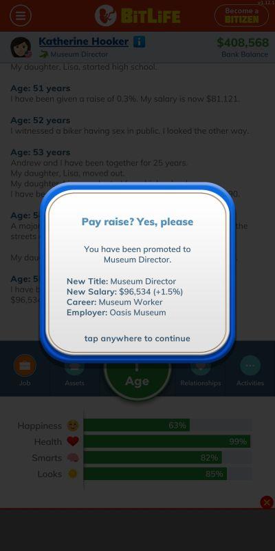bitlife museum director job