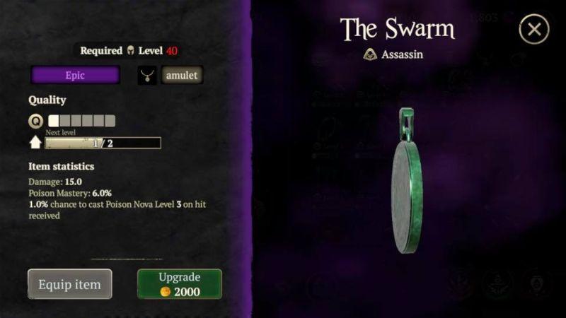 evil lands equipment