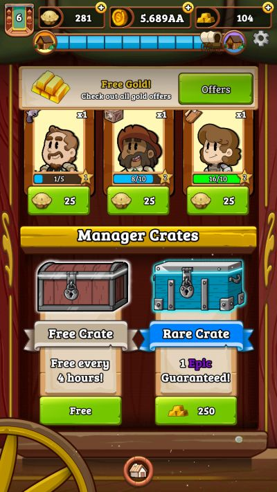 idle frontier tap town tycoon freebies, offers and events