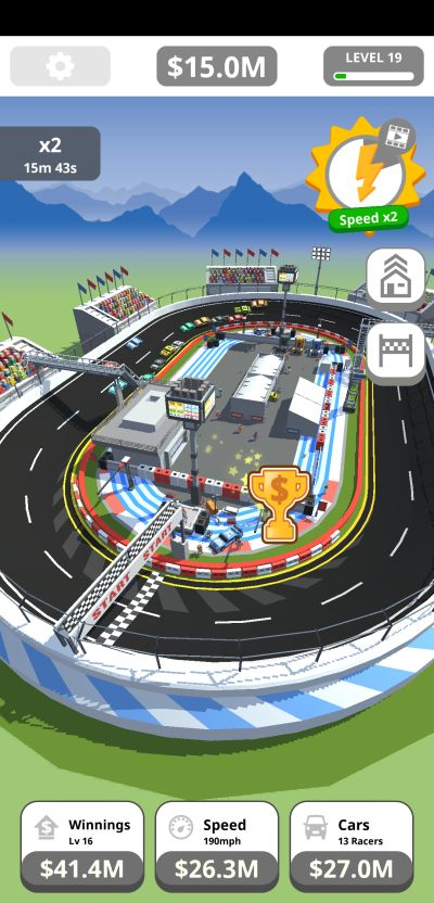 idle tap racing floating trophy