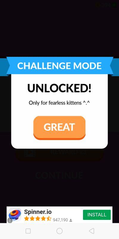 kitten up! challenge mode