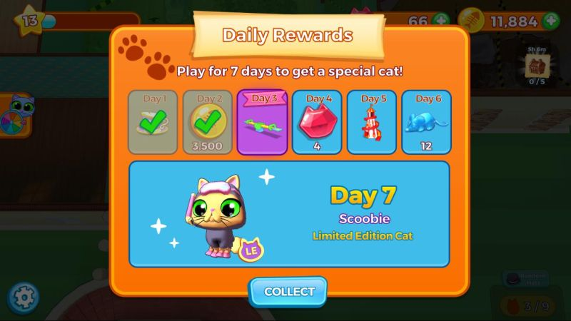 kitty keeper cat collector daily rewards