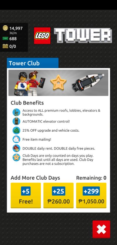 lego tower tower club