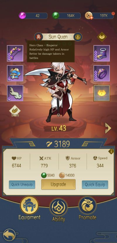 ode to heroes upgrades