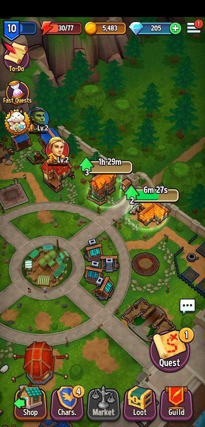 shop titans town structures