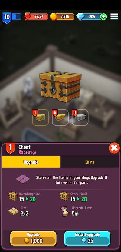 shop titans store upgrade