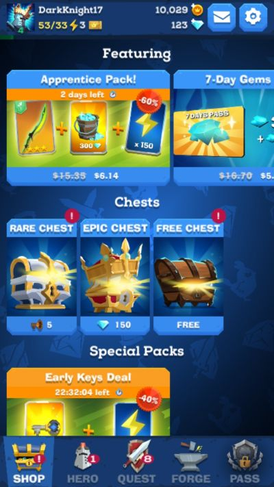 the mighty quest for epic loot chest