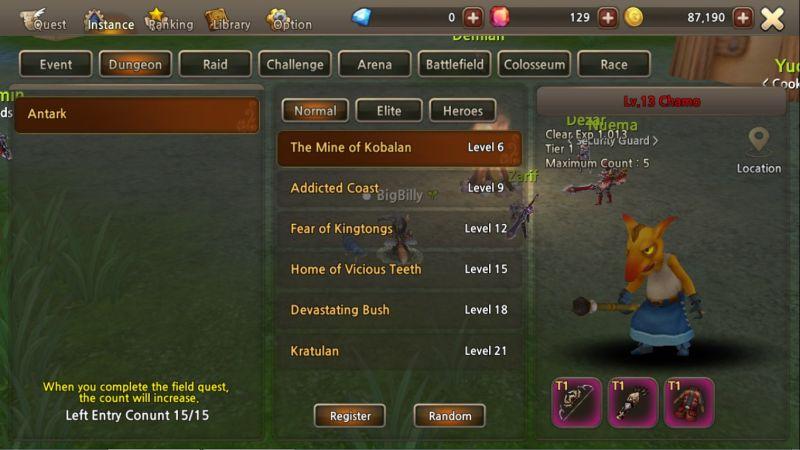 world of prandis menu system