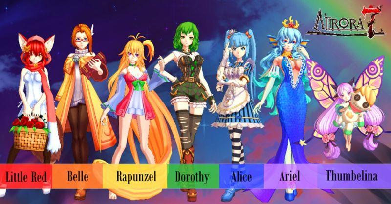 aurora 7 characters