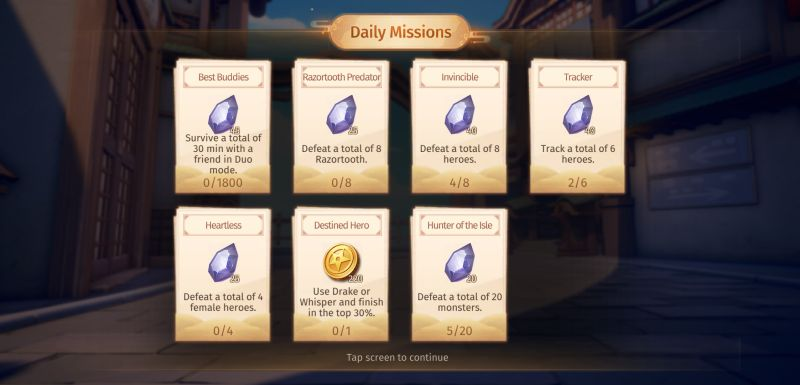 eclipse isle daily missions