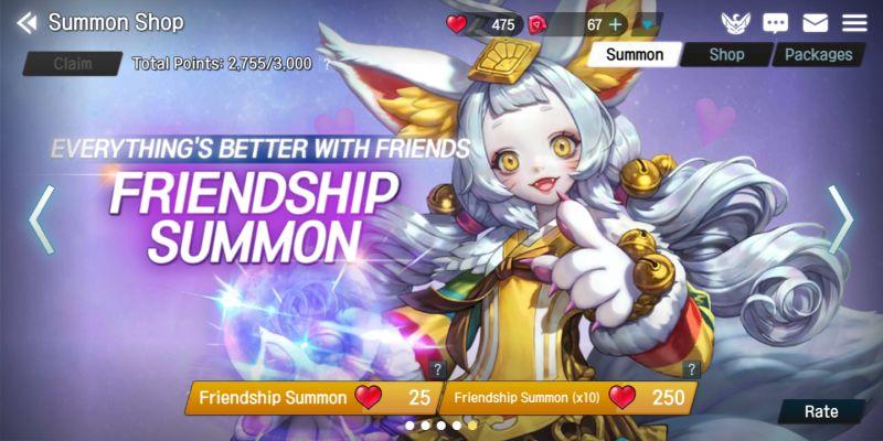 elune friendship summon