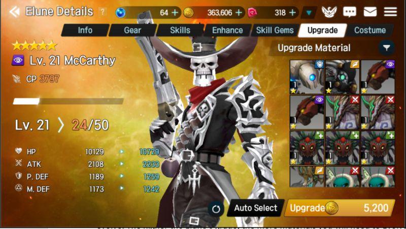 elune upgrades