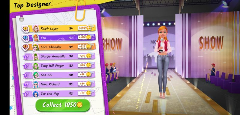 fashion tycoon fashion show