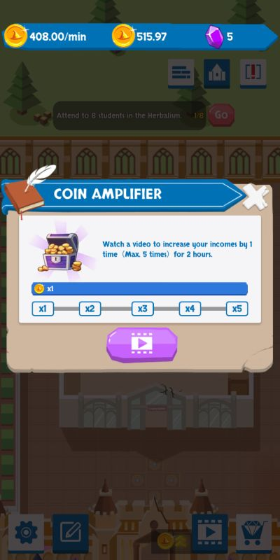 how to boost your earnings in idle wizard school