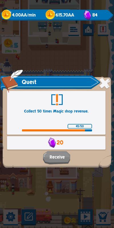 idle wizard school quest