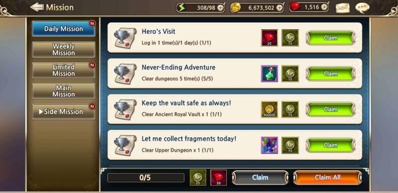 king's raid missions