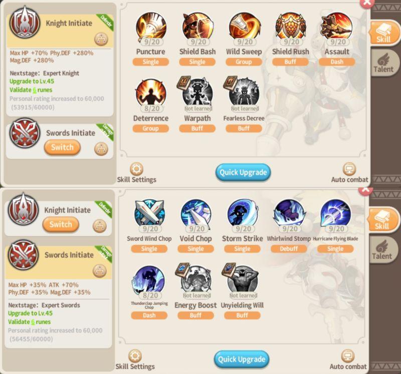 lumia saga knight and swords setup