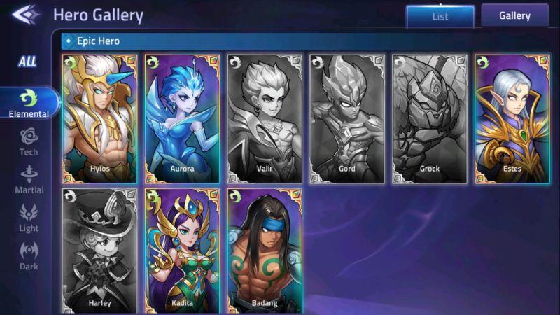 mobile legends adventure elemental heroes