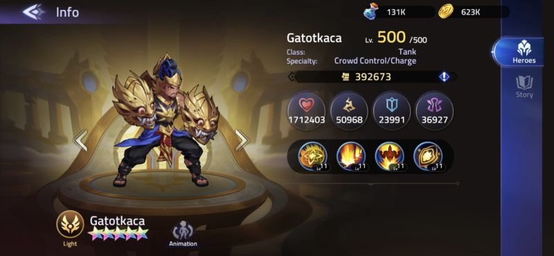 mobile legends adventure gatotkaca